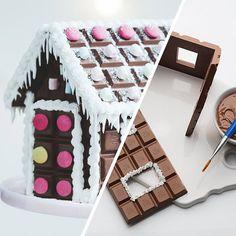 Pepparkakshusen är fina att titta på, men knepiga att göra. Det kanske är dags att ge sig på förra årets nykomling, nämligen chokladhuset. Vi visar hur du gör ditt eget chokladhus - steg för steg.