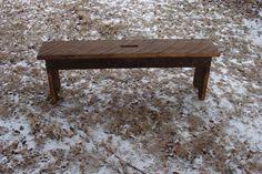 Rustic Woodland Bench Entryway Garden Coffee by baconsquarefarm, $95.00
