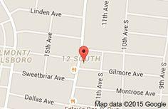 Map of Urban Grub  Nashville.  Fresh oysters  Duck candy