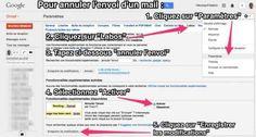 Comment annuler l'envoi d'un email sur gmail