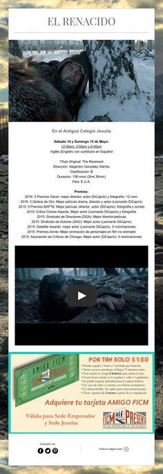 """¡Llega a Pátzcuaro """"The Revenant: El Renacido"""", ganadora de 3 premios OSCAR"""