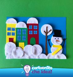 Craft Activities For Kids, Diy And Crafts, Crafts For Kids, Arts And Crafts, Weather Experiments, Reindeer, Snowman, Diy Paper, Paper Crafts
