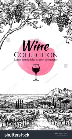 Find Wine List Design Template Hand Drawn stock images in HD and millions of other royalty-free stock photos, illustrations and vectors in the Shutterstock collection. Wine Collection, Wine List, Vintage Fashion, Vintage Style, Designs To Draw, Lorem Ipsum, Graphic Illustration, Vines, Vineyard