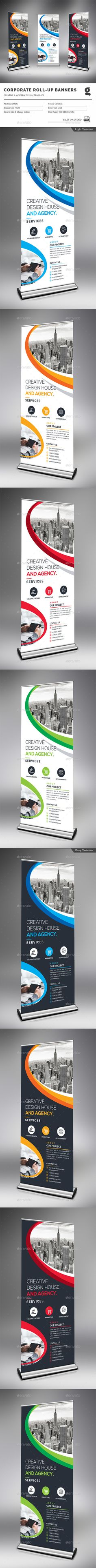 Corporate Rollup Banner by generousart File Information: Easy Customizable and EditableSize with bleedCMYK ColorDesign in 300 DPI ResolutionPrint Ready Fo Signage Design, Brochure Design, Banner Design, Standee Design, Invoice Template, Banner Template, Rollup Design, Rollup Banner, Retail Signage
