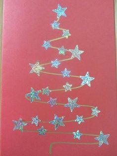 9 More Easy Homemade Christmas Cards with Step by Step Instructions – DIY Fan Diy Christmas Cards, Christmas Crafts For Kids, Christmas Projects, Kids Christmas, Handmade Christmas, Holiday Crafts, Christmas Decorations, Childrens Homemade Christmas Cards, Christmas Cards For Children
