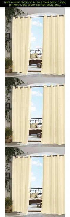 1 Piece 96 Inch Outdoor Natural Solid Color Gazebo Curtain, Off-white Outside Window Treatment Single Panel, Indoor Patio Porch Deck Entrance Door Grommet Doorway Pergola Drapes, Cabana Polyester #plans #indoor #kit #drone #window #panel #parts #50 #gazebo #96 #decor #racing #shopping #products #camera #fpv #by #gadgets #outdoor #tech #outdoor #natural #technology
