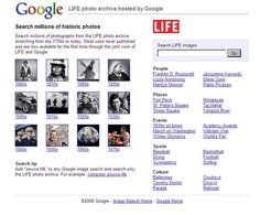 LIFE Magazine and Google have a great partnership at http://images.google.com/hosted/life.  Whether you're interested in photography or need a primary source image for a history project, this site is a good place to visit.  The set-up is very straight-forward, giving you the option of browsing through photos by decade, location, and event.  You can also use the search box to find something more specific.