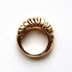 Skinny Zebra Ring, gold plated brass sz 7. by jimenabolanos on Etsy
