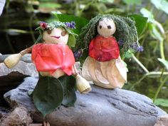 camping craft - bring clay, add flowers to make nature fairies