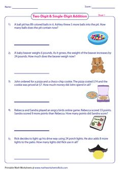 Addition word problem worksheets contain abundant practice sheets with regrouping and no regrouping addends. Multi-digit word problems are included. 5th Grade Math, Grade 2, Math Essay, Addition Words, Maths Resources, Home Schooling, Word Problems, Interactive Notebooks, Multiplication