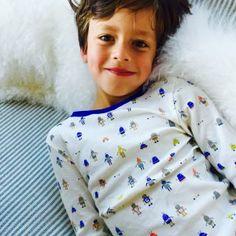 Kids Pajamas Cobalt Stripe  |  Little Auggie
