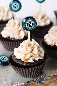 Chocolate Stout Cupcakes with Peanut Butter Frosting by ©Bakingdom