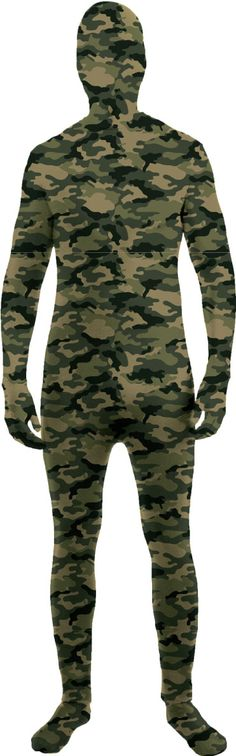The Disappearing Man Adult Camouflage Unitard Costume Forum Novelties
