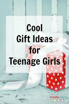 Cool Gift Ideas for Teenage Girls. Teens can be hard to shop for and you won't want to miss this list of unique gift ideas. We also have one for teen boys!