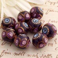 Polymer Clay Beads, by CAG by cag_crafts, via Flickr