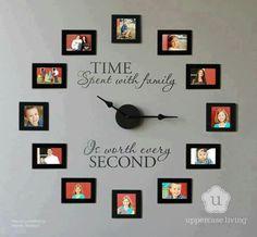 Love this family clock idea by diycozyhome.com