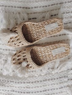 A personal favorite from my Etsy shop https://www.etsy.com/ru/listing/279531750/straw-slippers