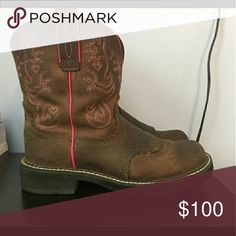 Womens 10b Ariat Fatbaby Boots Beautiful boots with some wear Lots and lots of life left Never worn for riding or anything...clean Ships quick Ariat Shoes