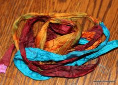 beautiful sari ribbon from my bead soup partner