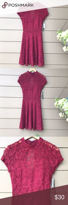 JUNIORS SIZE 5 BRAND NEW LACE DRESS •Absolutely beautiful burgundy color  •Super cute  •Brand new  •Juniors size 5 •Built-in bra •Lined My Michelle Dresses