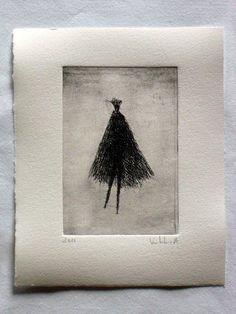 "Original Etching ""Puppet"" by Valdas Misevičius Drypoint Etching, Stamp Printing, Puppets, Line Art, Printmaking, Illustration Art, Ink, The Originals, Drawings"
