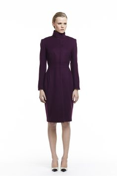 Plakinger FW14 clothing coats-and-outerwear burgundy Wool and cashmere Coat