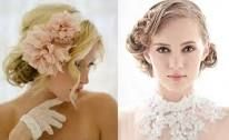 wedding hair for short dress - I kinda like the flower in the headband. Would have to try! - google search