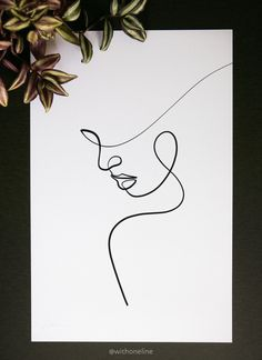 Minimal line drawing created in a single line. Abstract Face Art, Abstract Drawings, Art Drawings Sketches, Easy Drawings, Dress Sketches, Single Line Drawing, Continuous Line Drawing, Line Drawing Art, Drawing Faces