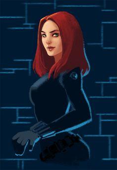 Marvel: Black Widow by LucidOrange.deviantart.com on @DeviantArt