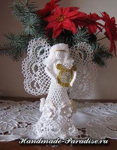 Esquemas calados ángeles crochet - Hecho a mano-Paradise