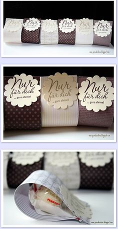 Cute packaging idea for party or wedding favors. Cookie Packaging, Soap Packaging, Packaging Ideas, Simple Packaging, Wedding Favours, Party Favors, Wedding Gifts, Wedding Ideas, Stamping Up