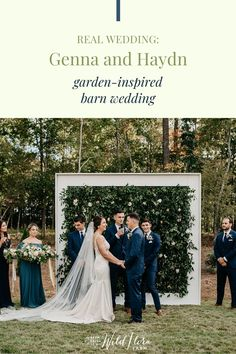 Read the Q A between Barn of Chapel Hill and Genna   Haydn and discover why they recommend making a list of what's most important for your wedding day. Take inspiration from their garden-inspired floral wall backdrop and beautiful color palette, and incorporate them into your own wedding design.