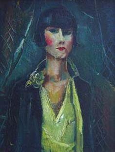 Kiki de Montparnasse, 1925 by Luigi Corbellini (Italian Alexander Calder, Man Ray, Kiki De Montparnasse, Chaim Soutine, Louise Brooks, 6 Photos, Illustrations, Women In History, Woman Painting