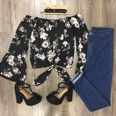 Lisa Floral Top Bell Sleeves, Bell Sleeve Top, Off The Shoulder, Floral Tops, Lisa, Outfits, Clothes, Collection, Women