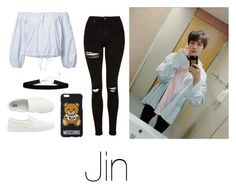 """Diner with Jin"" by infires-jhope on Polyvore featuring Topshop, Sea, New York, Uniqlo and Moschino"
