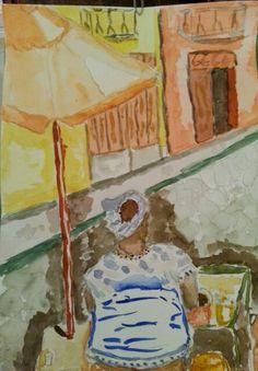 Baiana aquarela