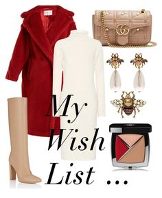"""""""#PolyPresents: Wish List"""" by jasminsangalyan on Polyvore featuring MaxMara, Gucci, The Row, Gianvito Rossi, Chanel, contestentry and polyPresents"""
