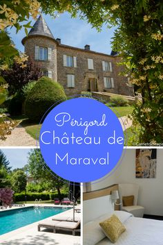 Avis sur le Château de Maraval, des chambres d'hôtes de charme dans le Périgord. Un château du 19e siècle restauré et décoré de façon contemporaine.