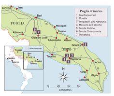 puglia travel guide map