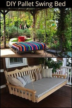 Pallet Swing Bed Outdoor Furniture Doesnt Get Much Better And Cheaper Than This! Make Your Own Pallet Swing BedOutdoor Furniture Doesnt Get Much Better And Cheaper Than This! Make Your Own Pallet Swing Bed Diy Projects Outdoor Furniture, Diy Living Room Furniture, Pallet Garden Furniture, Diy Pallet Projects, Diy Furniture, Furniture Design, Wood Projects, Out Door Furniture, Pallet Bedroom Furniture