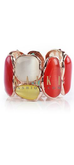 Buy Online from the link below http://www.kalkifashion.com/multi-coloured-gem-stone-bracelet.html
