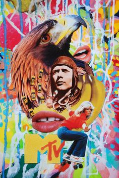 The Lone Eagle, John Turck Collage