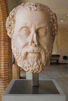 Tête d'homme à la calvitie naissante, MSR, Musée Saint-Raymond, Villa romaine de Chiragan, Musée des Antiques de Toulouse | da Following Hadrian