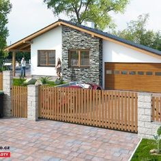 Dřevěný plot - Dub Teak, Shed, Home And Garden, Outdoor Structures, Outdoor Decor, Home Decor, Fence Ideas, Gardening, Pine Tree