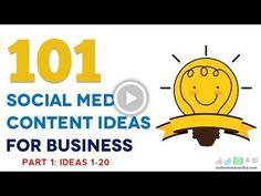 101 Social Media Content Ideas For Business | Part 1 | 1-20