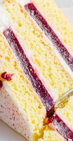 Raspberry Layer Cake with Cream Cheese Frosting ~Sweet & Savory Raspberry Layer Cake with Cream Cheese Frosting ~Sweet & Savory,Kuchen ect. raspberry layer cake with cream cheese frosting Related posts:Apfel Käsekuchen Dessert im Glas. Potluck Desserts, Brownie Desserts, Just Desserts, Dessert Recipes, Summer Cake Recipes, Layer Cake Recipes, Cake Recipes With Fruit Filling, Cake With Filling, Cake Recipes