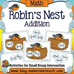 FREE!!! Your students will love this sweet little seasonal math activity for practicing basic addition facts.  Great for your spring themed math centers!