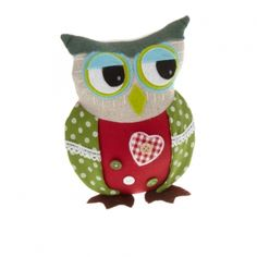 Our shabby-chic Boy Owl Fabric Doorstop is a stylish and practical addition to your home. #PinItToWinIt #Comp #Doorstop #Doormat #Competition #RomanAtHome  From: www.romanathome.com