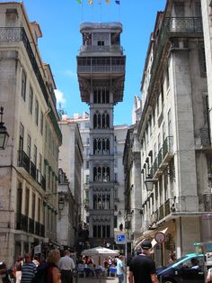 Elvador do Santa Justa -in the heart of Lisbon one will find this amazing lift situated between two very busy streets in Lisbon, the Baixa and Chiada