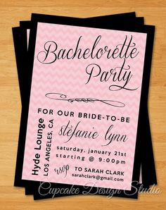 Printable Bachelorette Party Invitation  by CupcakeDesignStudio, $12.50